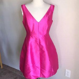 Kate spade signature pink dress satin size 4 liken